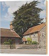 Building Houses Traditional Weybourne Norfolk Wood Print