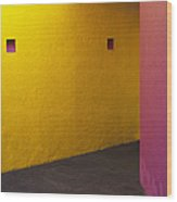 Building Interior Wood Print