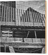 Building The American Dream Wood Print by John Farnan