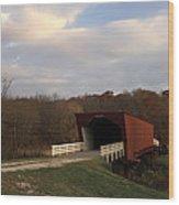 Built In 1883 Roseman Bridge Wood Print