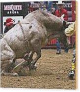 Bull 1 - Cowboy 0 Wood Print