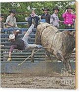 Bull 1 - Rider 0 Wood Print