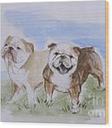 Bulldog Tough Love Wood Print