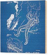 Bulletproof Patent Artwork 1968 Figures 16 To 17 Wood Print