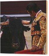Bullfight Madrid Wood Print