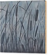 Bullrush Blues Wood Print