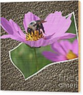 Bumble Bee Pop Out Wood Print
