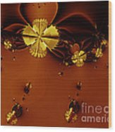 Bumble Beez Over Chocolate Lake . S19 Wood Print by Wingsdomain Art and Photography
