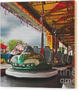 Bumper Cars Wood Print