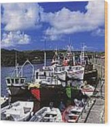Bunbeg, Donegal, Ireland Harbour Of A Wood Print