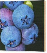 Bunch Of Blueberries Wood Print