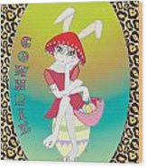 Bunnie Girls- Cowhrie- 3 Of 4 Wood Print by Brenda Dulan Moore