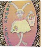 Bunnie Girls- Flowah Chile 1 Of 4  Wood Print