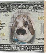 Bunny Money Wood Print