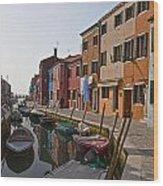 Burano - Venice - Italy Wood Print