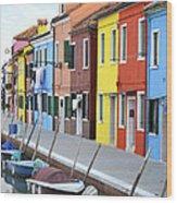 Burano Italy 2 Wood Print