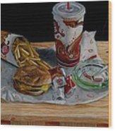 Burger King Value Meal No. 1 Wood Print