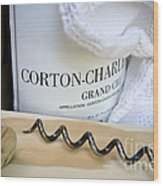 Burgundy Wine Wood Print