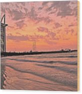 Burj Al Arab Dubai Wood Print by Anusha Hewage