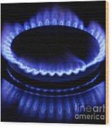 Burning Gas Wood Print by Fabrizio Troiani