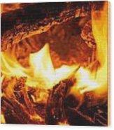 Burning Wood Print