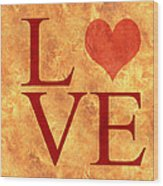 Burning Love Wood Print