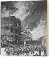 Burning Of Colon, 1885 Wood Print