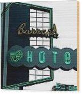 Burrard Hotel 2 Wood Print