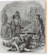 Burying The Dead After John Browns Wood Print