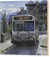 Bus To East Vail - Colorado Wood Print