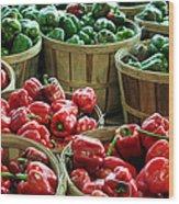 Bushels Of Green And Red Wood Print