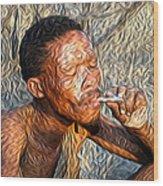 Bushman Wood Print