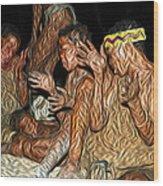 Bushmen Wood Print