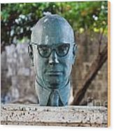 Bust Of Carlos Lleras Restrepo In Cartagena De Indias Colombia Wood Print