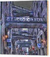 Butlers Wharf London Hdr Wood Print