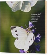 Butterflies - Cabbage White - Enjoyed The Togetherness Wood Print