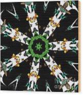 Butterflies Mania Kaleidoscope Wood Print
