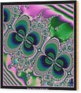 Butterflies On Parade Fractal 123 Wood Print