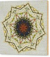 Butterfly Kaleidoscope Wood Print
