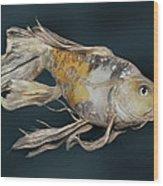 Butterfly Koi E Wood Print