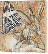 Butterfly Mosaic 02 Elena Yakubovich Wood Print