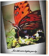 Butterfly Note Card Wood Print