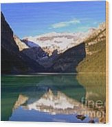 Butterfly Phenomenon At Lake Louise Wood Print