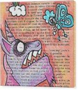 Butterfly Vs Unicorn Wood Print
