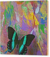 Butterfly Wall Wood Print