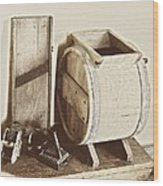 Buttermilk Churn 3540 Wood Print
