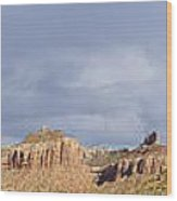 Buttes At Arches Park Wood Print