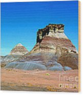 Buttes In The Painted Desert In Arizona Wood Print