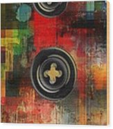 Button To The Top Wood Print by Fania Simon