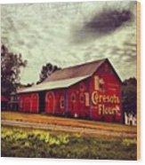 Buy Flour. #barn #pa #pennsylvania Wood Print